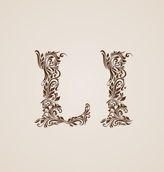 Decorated letter l vector image