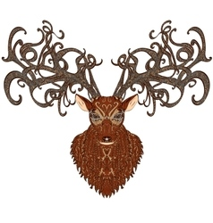 Deer color vector
