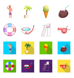 Design of pool and swimming icon vector