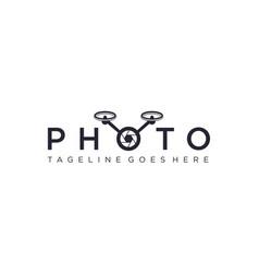 Drone photo for logo design editable vector