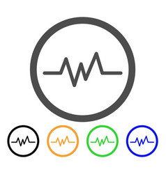 Echogram flat icon vector