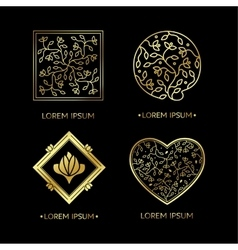 Emblems for flowers shop vector