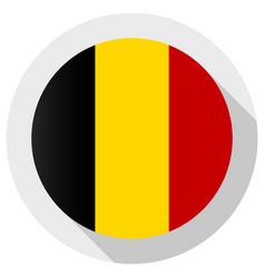 Flag belgium round shape icon on white vector