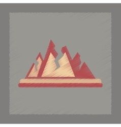 Flat shading style icon cracks mountains vector