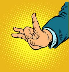 flick gesture fingers vector image