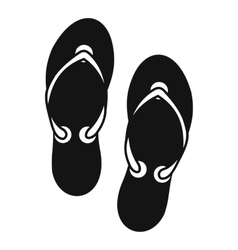 Flip flop sandals icon simple style vector image