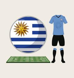 Football uruguay sport wear vector
