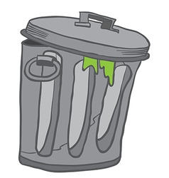 Garbage can vector