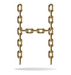 Golden Letter H vector