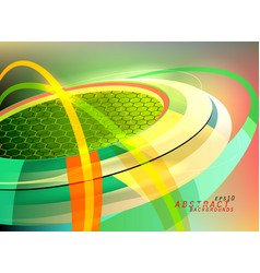 Green curved motion graphics vector
