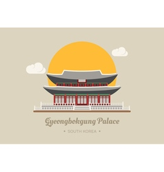 Gyeongbokgung Palace south korea eps10 vector