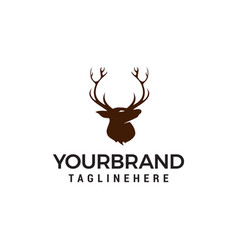 head deer logo design concept template vector image