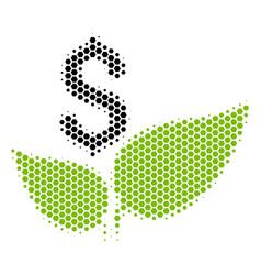 hexagon halftone eco startup icon vector image