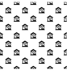 house protection pattern seamless vector image