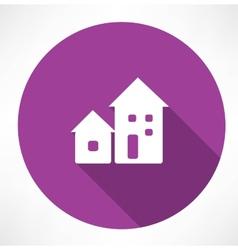 Houses icon vector