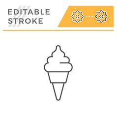ice cream line icon vector image