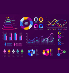 infographic chart graphics diagram charts data vector image