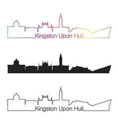 Kingston Upon Hull skyline linear style with vector