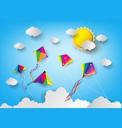 Kite on sky vector