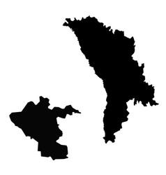 Map moldova and kishinev country and capital vector