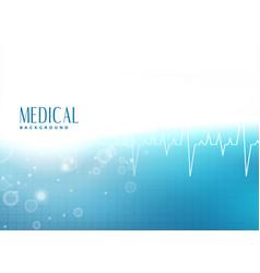 Medical presentation banner design background vector