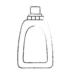 monochrome blurred silhouette of liquid soap vector image