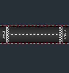 Moto race lane gp track with start finish line vector