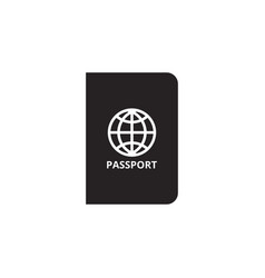 passport icon graphic design template vector image