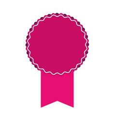 Pink award ribbon vector