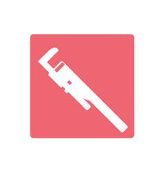 Plumbing wrench isolated vector