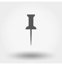 Pushpin icon vector