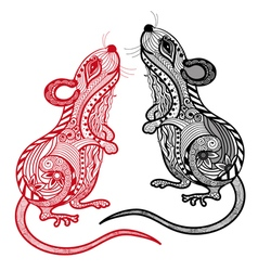 Rat Chinese zodiac and horoscope sign vector image