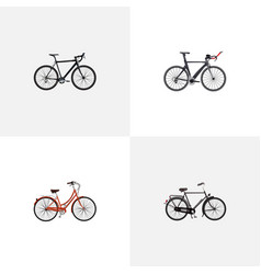 realistic cyclocross drive training vehicle vector image