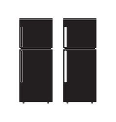 refrigerator icon flat sign vector image