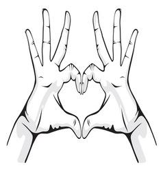 ruka srceG resize vector image