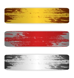 Set of grunge banners metal vector