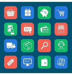Shopping E-commerce Icons Set vector