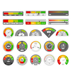 speedometer indicator level quality rating vector image