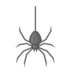 spider filled outline icon halloween and scary vector image