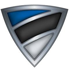steel shield with flag estonia vector image vector image
