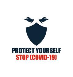 stop covid19-19 coronavirus vector image