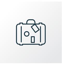 Travel bag icon line symbol premium quality vector
