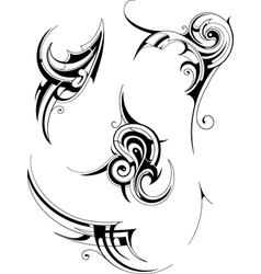 Tribal Tattoo Elements vector image