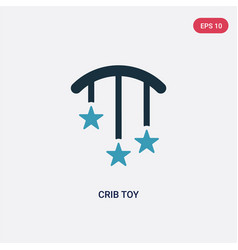 Two color crib toy icon from kid and baconcept vector