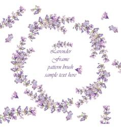Vintage Lavender wreath card vector image