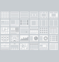 Website flowcharts layouts of tabs infographics vector