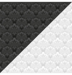 White and black pattern vector