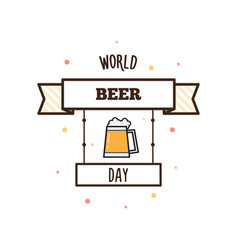 World beer day vector