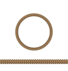 Circle and line rope elements isolated on white vector