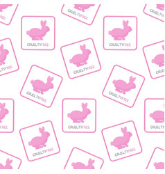 cruelty free seamless pattern vector image vector image